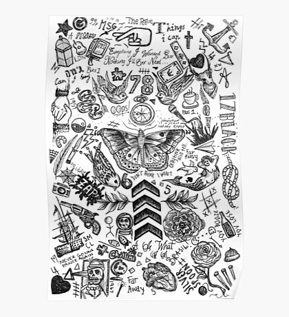 One Direction tattoos Poster