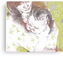 Tenderness ( in green) Canvas Print