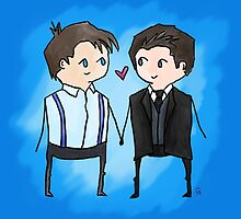 Jack And Ianto Chibis by dammitspawk