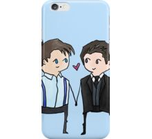 Jack And Ianto Chibis iPhone Case/Skin