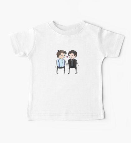 Jack And Ianto Chibis Baby Tee