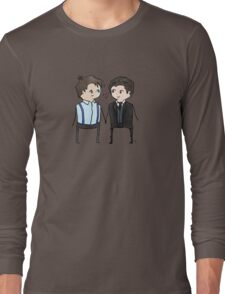 Jack And Ianto Chibis Long Sleeve T-Shirt