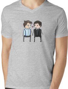 Jack And Ianto Chibis Mens V-Neck T-Shirt