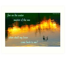 Fire on the Water Art Print