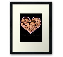 You've caged my heart Framed Print