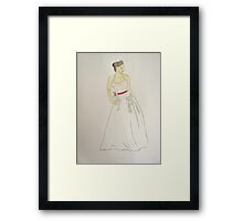 Wedding Dress No 5 Framed Print