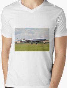 L-1049F Super Constellation HB-RSC taking off Mens V-Neck T-Shirt