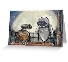 Wall-E and EvE Greeting Card