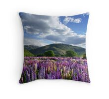 Lupin Field Throw Pillow
