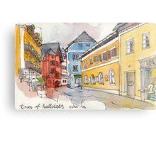 Travelsketch- Town of Hallstatt in Austria Metal Print
