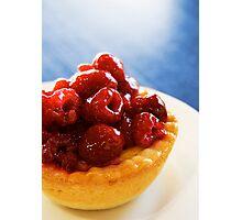 Raspberry Tartlet Photographic Print