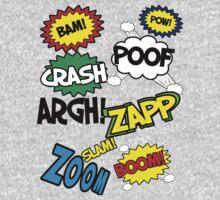 Comic Sound Effects Kids Tee
