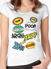 Comic Sound Effects Women's Fitted Scoop T-Shirt