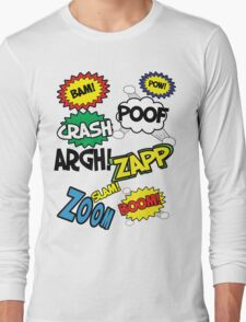 Comic Sound Effects Long Sleeve T-Shirt
