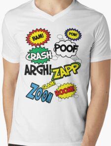 Comic Sound Effects Mens V-Neck T-Shirt