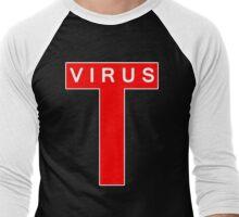 T-Virus White Men's Baseball ¾ T-Shirt