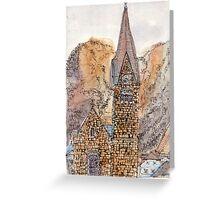 Travelsketch- Church in Hallstatt, Austria Greeting Card
