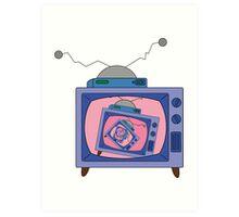 crazy tv simpsons Art Print