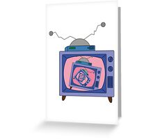crazy tv simpsons Greeting Card