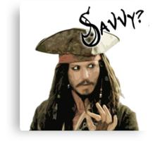 "Pirates of the Caribbean - Jack Sparrow ""Savvy?"" Canvas Print"