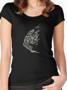 Le poisson (white design) Women's Fitted Scoop T-Shirt