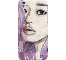 Rainbow Portraits- Violet iPhone Case/Skin