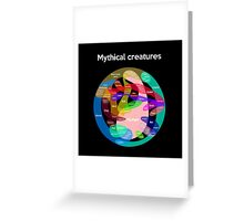 Epic Mythical Creatures Chart Greeting Card