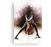 Tranquil Cellist Canvas Print