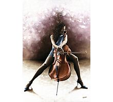 Tranquil Cellist Photographic Print
