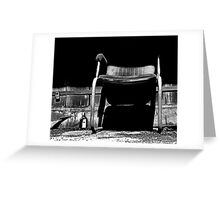 Lock, Gin and Chair Being Eaten by Shadows Greeting Card