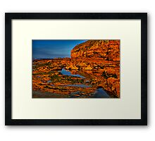 """Shoreline Reflections"" Framed Print"