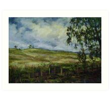 Storm brewing, Mudgee, NSW Art Print