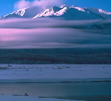 Sunset at the Chilkat River, Alaska by John Wright
