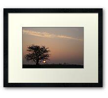 LOW SUN Framed Print