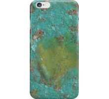 Green marble stone iPhone Case/Skin