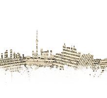 Toronto Canada Skyline Sheet Music Cityscape Photographic Print