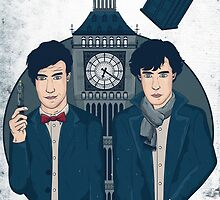 Doctor Who & Sherlock by gemlovesyou