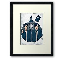 Doctor Who & Sherlock Framed Print