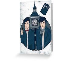 Doctor Who & Sherlock Greeting Card