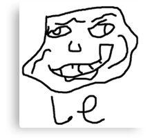 Le meme de la trollé  Canvas Print