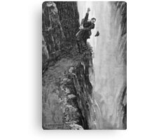 Sydney Paget - Fantastic print from Sherlock Holmes The Final Problem / Reichenbach Falls Canvas Print