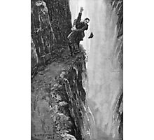 Sydney Paget - Fantastic print from Sherlock Holmes The Final Problem / Reichenbach Falls Photographic Print