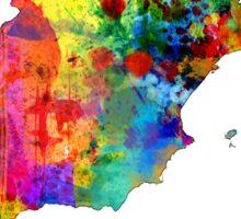 Spain Watercolor Map Sticker