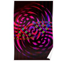 swirly fight Poster