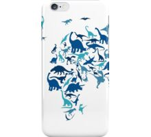 Dinosaur Map of the World Map iPhone Case/Skin