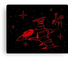 Galaga red and black  Canvas Print
