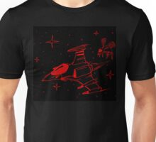 Galaga red and black  Unisex T-Shirt