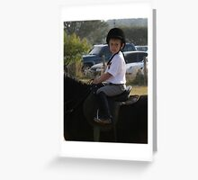 Portrait of a Rider Greeting Card