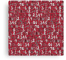 math doodle red Canvas Print