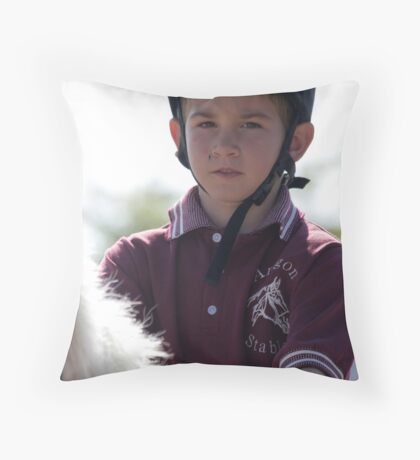 Portrait of a Rider Throw Pillow